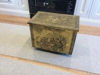 Brass log box