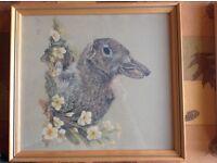 3 framed baby animal prints