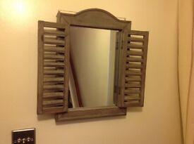 Shabby Chic wooden Shutter Mirror