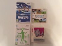 Wii Sport, Wii fit plus, Wii balence board, Rechargeable battery pack