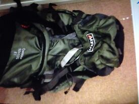 Vango backpack in green in very good condition with lots off pockets
