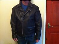 Leather Motorbike Jacket - Mens