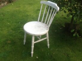 Nice little do up project.Wooden chair from my childhood at least 65 yr. old.Nice and solid