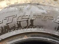 B F Goodrich All terrain 265/75/16 tyres, set of 4 Land Rover Defender Mitsubishi etc