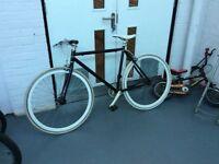 Black Mango Style Bicycle, (White Wheels)