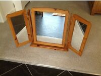 PINE 3 MIRROR DRESSING TABLE SET