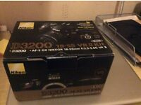 Nikon D3200 Camera, as a second camera never used, new in it original box