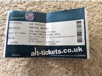 Haley Bonar ticket Louisiana 28 October 2016,