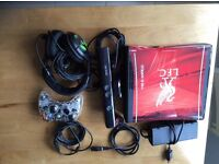 Xbox 360, Liverpool FC skin, Kinect, controller, headset & games