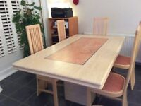 Marble Dining Table & 6 chairs