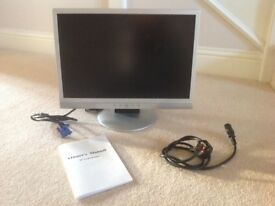 AOC 19 inch LCD Computer Monitor with Cables