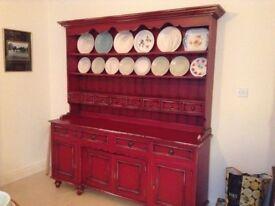 Large kitchen dresser. 74 inches wide.