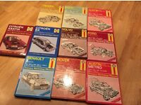 Collection of haynes car manuals