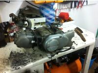 Honda c70 complete engine and carb 6v points cub c90 c50 pit bike