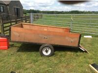 """Now Sold .... Box Trailer 6' 6"""" x 4' wooden container."""