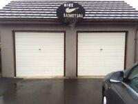Two off white Garage Doors.