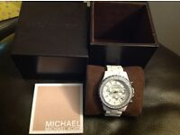 Genuine. Michael kors ladies chronograph ceramic watch (£209 new)(BARGAIN )