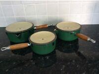 Le Creuset pans - set of 3