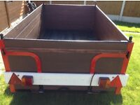 CAR TRAILER 6x4 OPEN SENSIBLE OFFERS READY TO USE