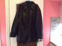 mens leather coat - NEXT make