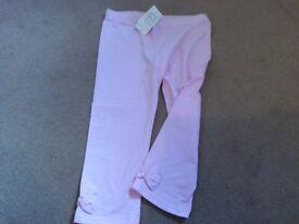 Girls pink leggings age 11, new