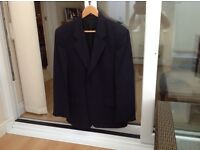 Gentlemans blue fine pin striped suit