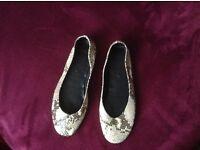 Leather ballerinas, new, size 6 UK