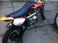 Kids 50cc pit bike 4 gears with clutch