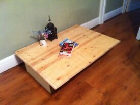 shabby chic rustic style Reclaimed wood coffee table -poss tv stand side table display