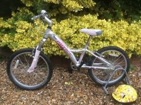 "CLAUD BUTLER SABRE GIRL'S BIKE COST £200 SILVER PINK 10"" FRAME AGE 5-8 SHIMANO GRIPSHIFTERS"