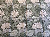 Sanderson Upholstery/Cushion Fabric. Cotton/Linen Union Mix. Crysanthemum Design by Wm Morris