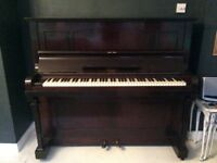 Dark wood piano free to collector fully functioning and tuned