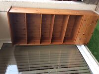 Solid pine shelving unit/bookcase with drawers