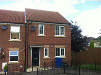 Chesterfield,lovely 3 bed semi detached,downstairs wc,car space,garden,d/g,gas c/h ready immediately