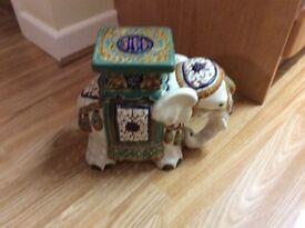 Ceramic elephant plant holder or decoration