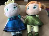 Two Disney soft toys