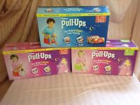 Box of huggies pull ups boys and girls