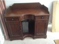 Antique mahogany Bow front Desk