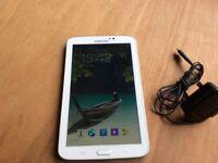 "Samsung galaxy tab 3 7"" inch screen 8gb WiFi in pearl white"