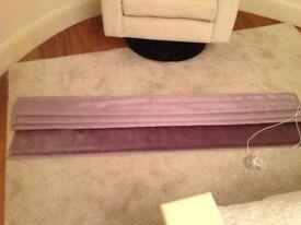Next Roman blind mauve silk & velvet 150cm x 117 cm drop