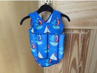 Splash About blue float suit 1-2 years perfect condition