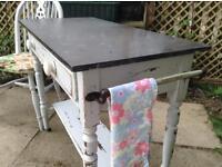 Slat top wash table