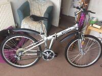 SeaSure folding mountain bike, 18 speed