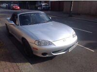 Mazda mx5 2 door soft top/ convertible in superb condition uk spec not import
