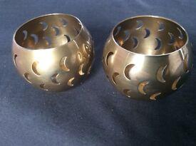2 Brass Tealight Holders