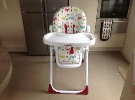 High chair and push chair