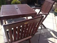 Winchester garden table and 2 chairs