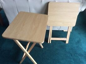 Two TV dinner / occasional tables