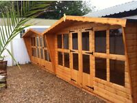 12x8 t&g summer house with canopy