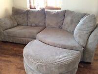 Corner sofa and 2 armchairs